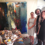 At the Studio of  Famous Turkish Painter  Mr Serdar Leblebicioglu and Artist Prof. Joan Marie Kelly