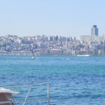 Magical Istanbul.. Cool Spring morning sea gulls and dolphins
